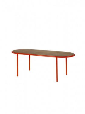 WOODEN TABLE OVAL RED / WALNUT Muller Van Severen