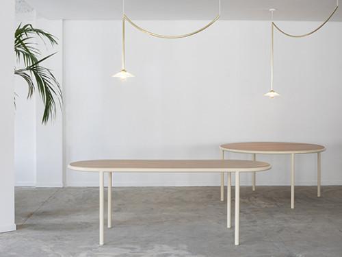 WOODEN TABLE RECTANGULAR IVORY / BIRCH Muller Van Severen