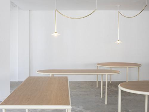 WOODEN TABLE RECTANGULAR IVORY / CHERRY Muller Van Severen