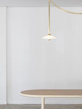 WOODEN TABLE OVAL IVORY / WALNUT Muller Van Severen