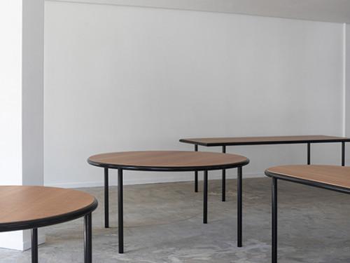 WOODEN TABLE RECTANGULAR BLACK / CHERRY Muller Van Severen