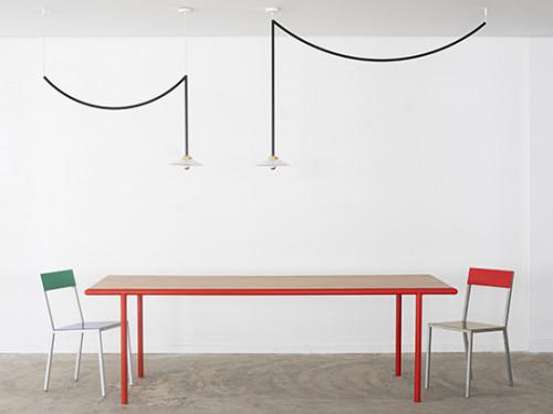 WOODEN TABLE RECTANGULAR RED / WALNUT Muller Van Severen