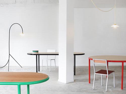 WOODEN TABLE OVAL RED / CHERRY Muller Van Severen