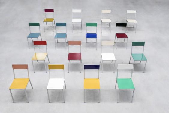 alu chair hammerpaint blue Muller Van Severen