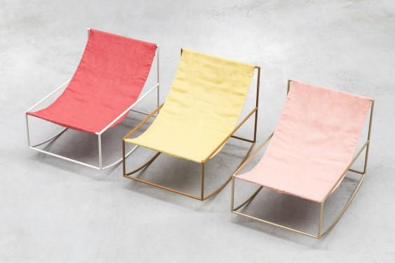 rocking chair white_red Muller Van Severen