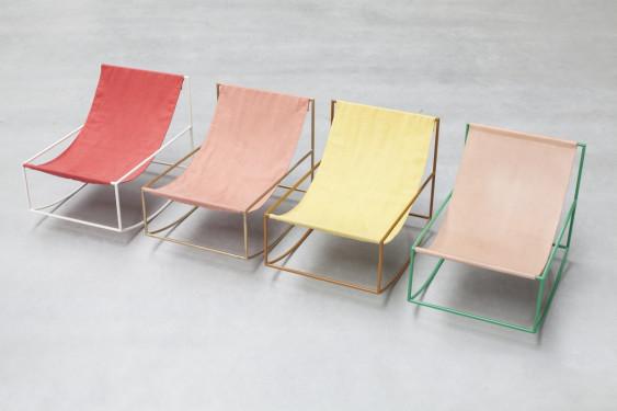 first rocking chair green_leather Muller Van Severen