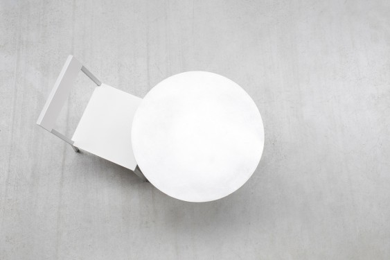 ALU CHAIR 52,5X38 H80 IVORY/WHITE Muller Van Severen