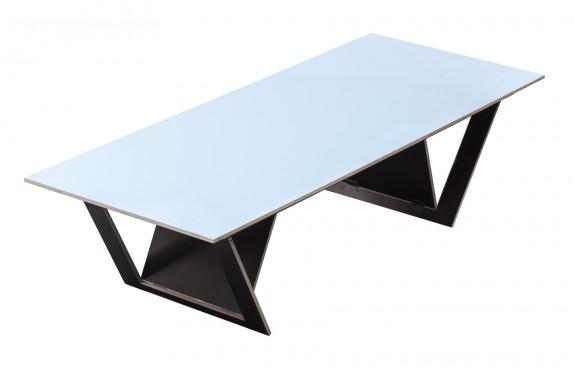 ta tisch blue surface Robbrecht en Daem architecten