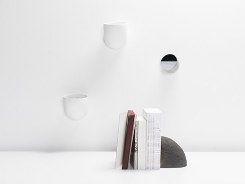 DUCT wall holder - Porcelain wall holder white Destroyers Builders