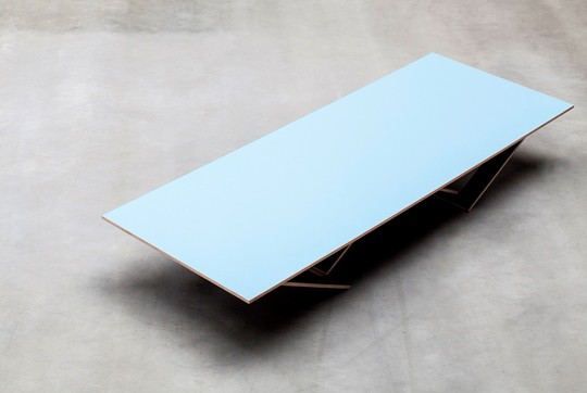 ta tisch blue surface Robbrecht en Daem architecten
