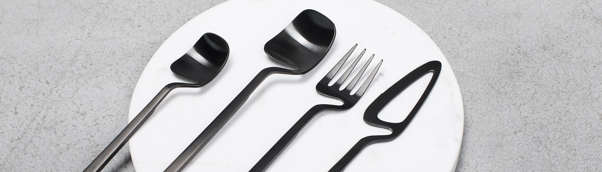 nendo skeleton cutlery - black