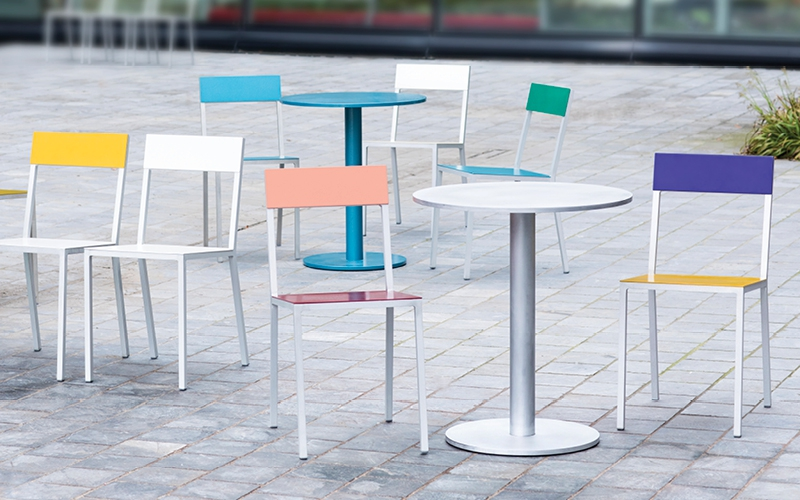 alu chair + round table s by muller van severen